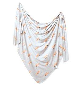Copper Pearl Knit Blanket Swift
