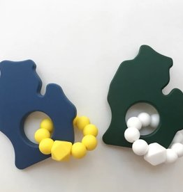 Bitten Mitten Teether MI Blue/Yellow