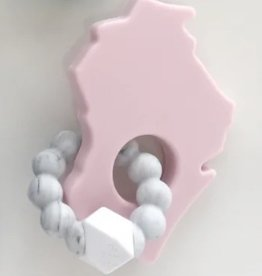 Bitten Mitten Teether WI Pink