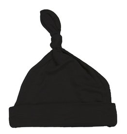 Kickee Pants Solid Knot Hat Black NB/3M