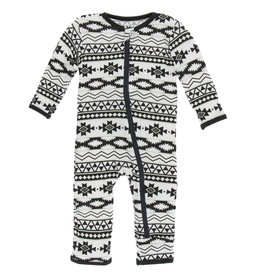Kickee Pants Coverall Natural Mayan 3/6, 9/12M