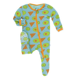 Kickee Pants Footie Avocados 0/3M