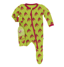 Kickee Pants Footie Chili Pepper 6/9M