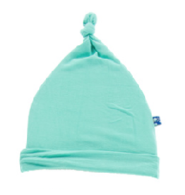 Kickee Pants Solid Knot Hat Glass NB, 3/12M