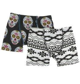 Kickee Pants Boxer Set Skulls/Mayan 3