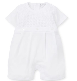 White Knit Romper 3M