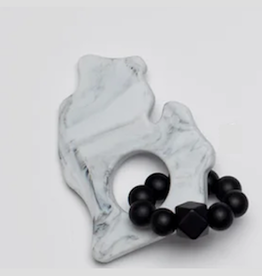 Bitten Mitten Teether Marble Black