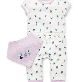 Little Me Cacti Coverall Set 9M
