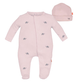 Magnetic Me Footie set Pink Elephant 6/9M