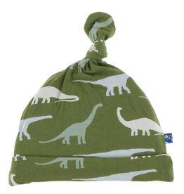 Kickee Pants Knot Hat Sauropods 3/12M