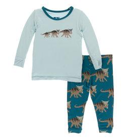 Kickee Pants PJ's Blue Kosmoceratops 2, 4T