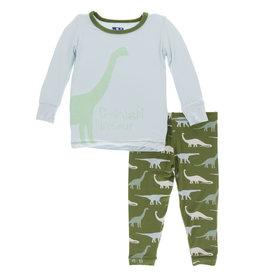 Kickee Pants PJ Set Goodnight Dino 2T