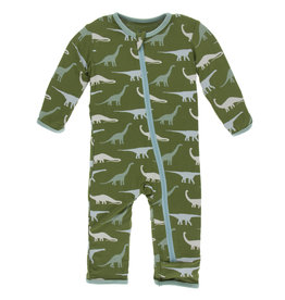 Kickee Pants Coverall Sauropods 9/12M