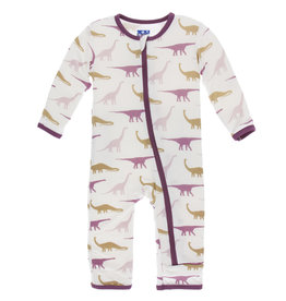 Kickee Pants Coverall Sauropods 3/6-9/12M