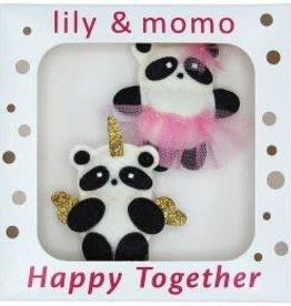 Lily & Momo Panda Pals Hair Clips