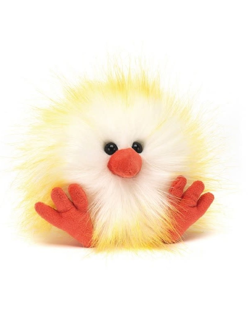 Jellycat Yellow White Crazy Chick