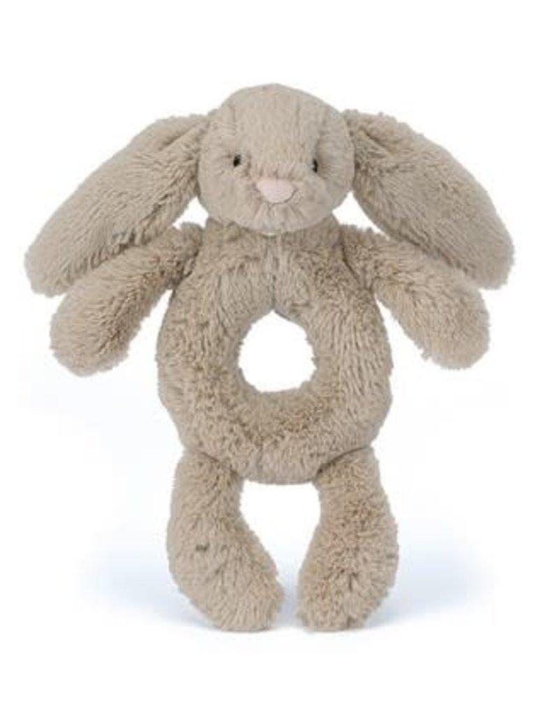 Jellycat Bashful Beige Bunny Ring Rattle