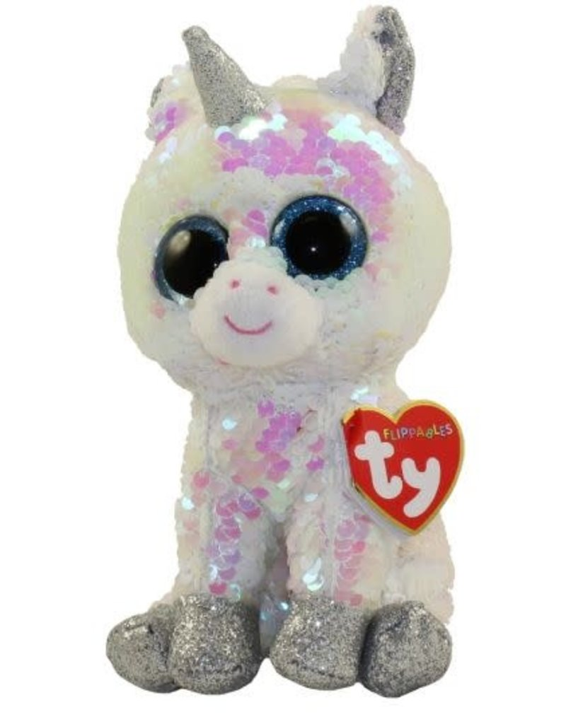 Ty Diamond White Sequin Unicorn Med 13""