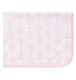 Little Me Pink Damask Blanket