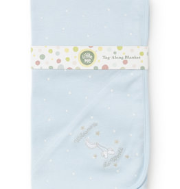 Little Me Welcome World Blanket Blue