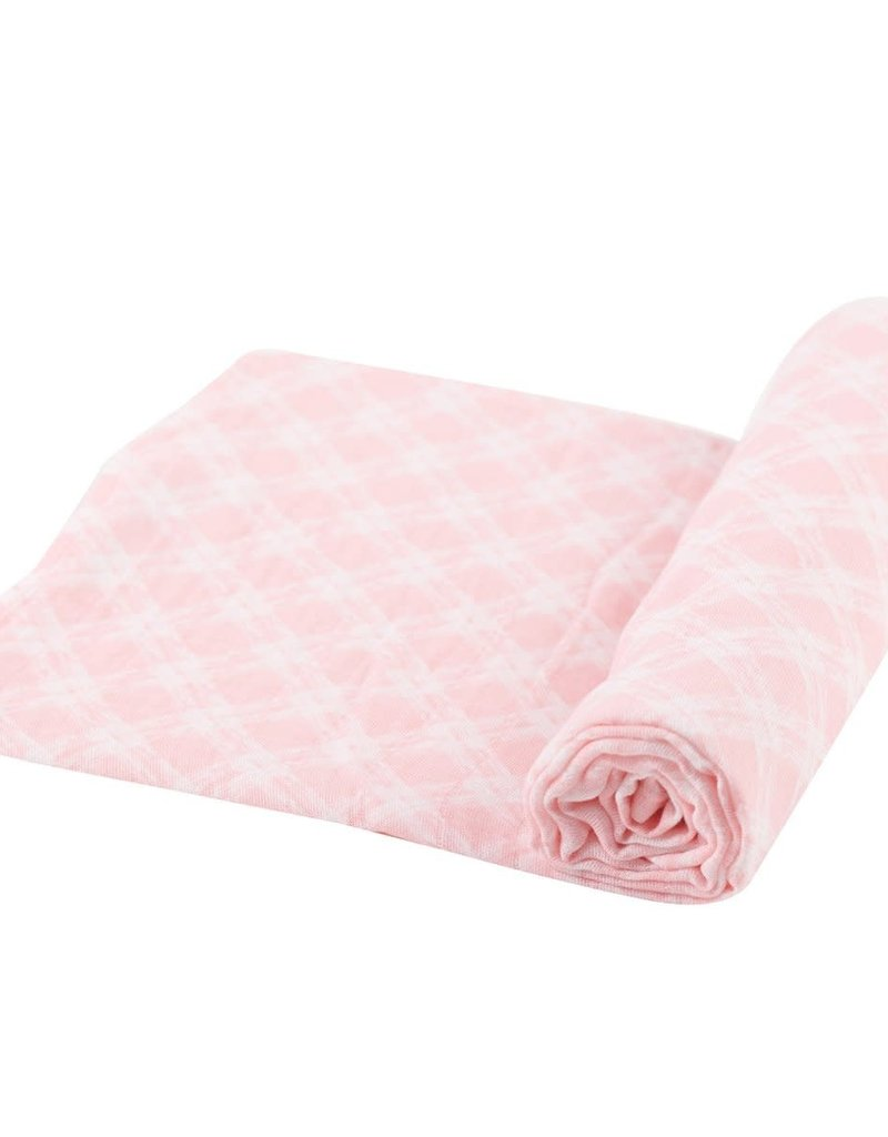 Newcastle Primrose Pink Plaid Swaddle