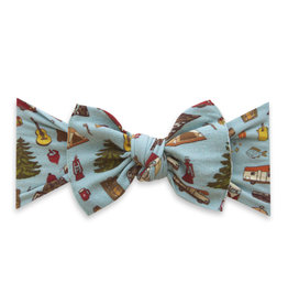 Baby Bling Bow Printed Knot Camping