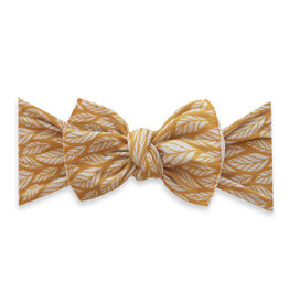 Baby Bling Bow Printed Knot Mustard Leaf