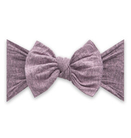Baby Bling Bow Knot Heathered Blossom