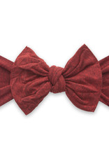 Baby Bling Bow Patterned Knot Heathered Red