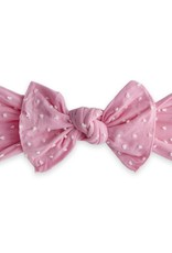 Baby Bling Bow Patterned Shabby Knot Bubblegum Dot