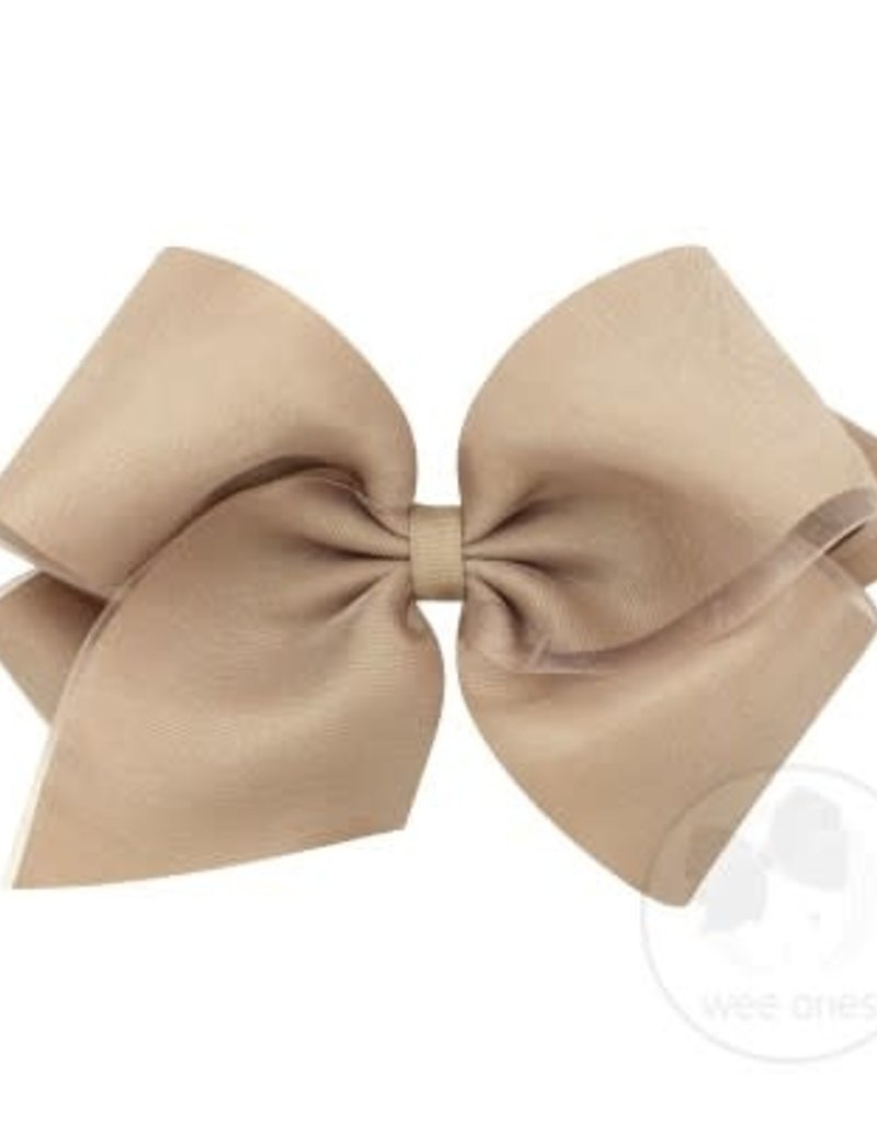 Wee Ones Assorted King Organza Overlay Bow