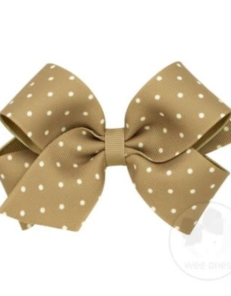 Wee Ones Medium Dot Grosgrain Bow
