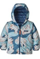 Baby Reversible Down Hoody Polar Bear 3/6M