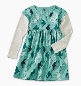 Tea Collection Layered Sleeve Dress 5-7