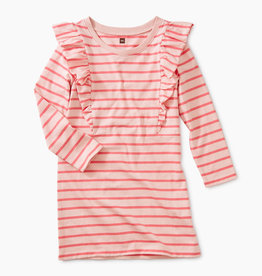 Tea Collection Apple Blossom Striped Dress 3T
