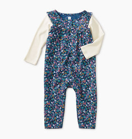 Tea Collection Henley Layered Romper 12/18, 18/24M