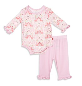 Magnetic Me Flora Fawna Onesie Pant Set 0/3-6/9M