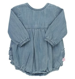 Ruffle Butts Denim Bubble Romper 3/6M, 6/12M