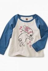 Tea Collection Bunny Hop Graphic Raglan 12/18, 18/24M