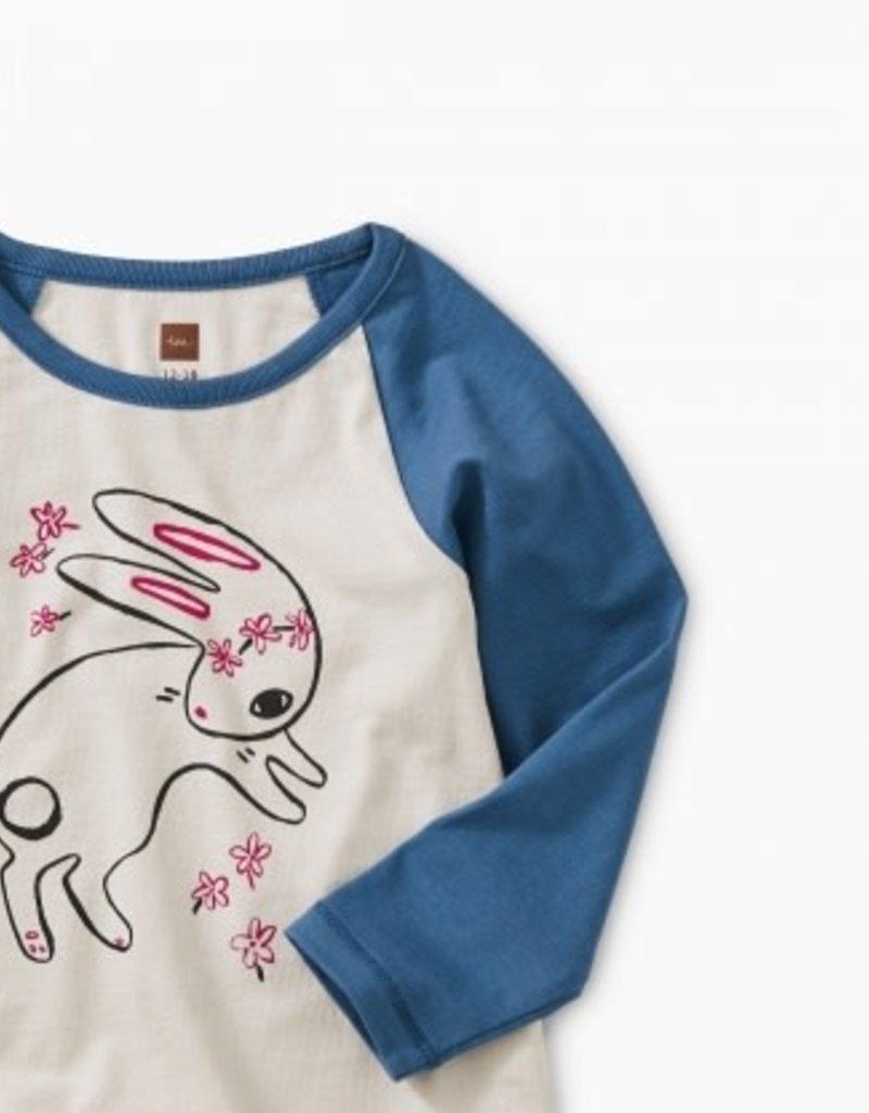 Tea Collection Bunny Hop Graphic Raglan 3/6-6/9M