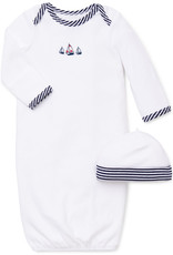 Little Me Sailboats Gown w/Hat