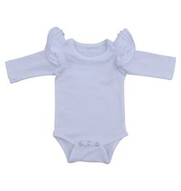 Mila & Rose Flutter White Bodysuit 6/12M