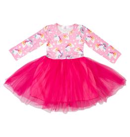 Mila & Rose L/S Tutu Rainbow Dress  2-4T
