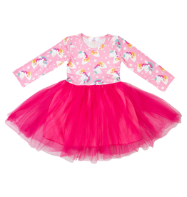 Mila & Rose L/S Tutu Rainbow Dress  5/6