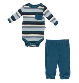 Kickee Pants Onesie/Pant Outfit 3/6, 6/12M