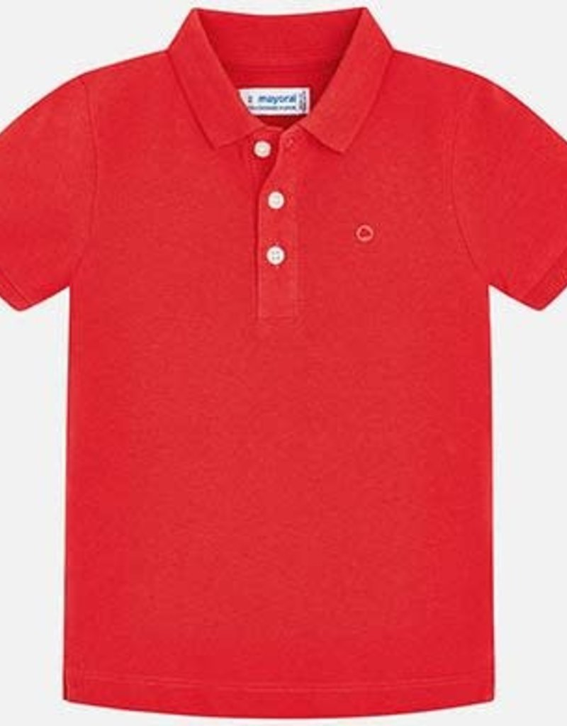 Boys S/S Polo Red 6