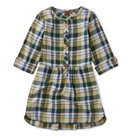 Tea Collection Flannel Plaid Shirtdress 2-4T