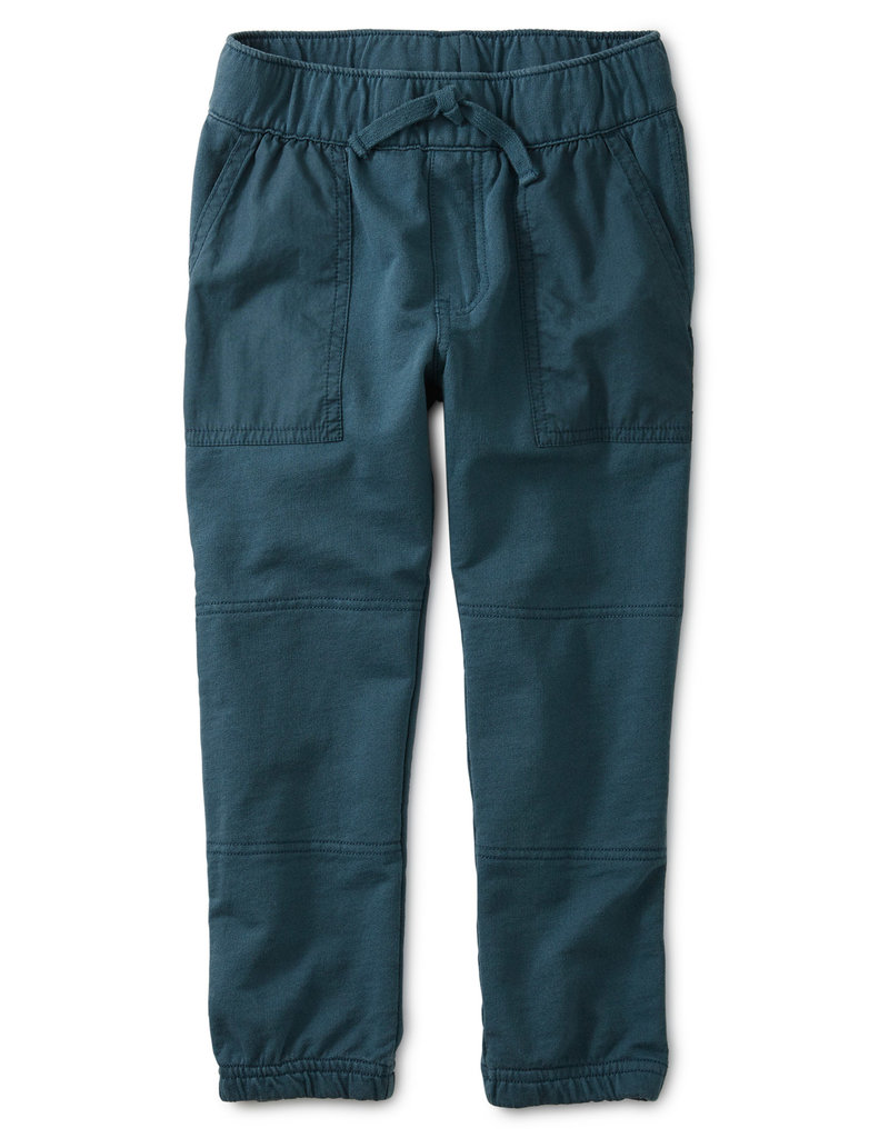 Tea Collection Woven Patch Pocket Joggers Bedford Blue