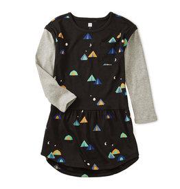Tea Collection Layered Sleeve Pocket Dress 8-10