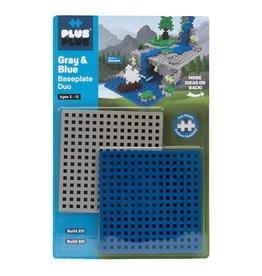 Plus-Plus Base Plate Duo Gray & Blue